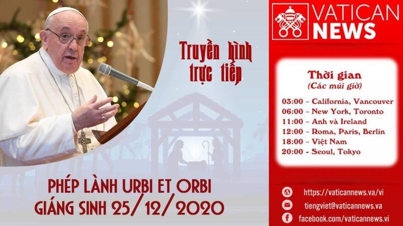 Trực tiếp Phép lành Urbi et Orbi Giáng Sinh 2020, phép lành, giáng sinh