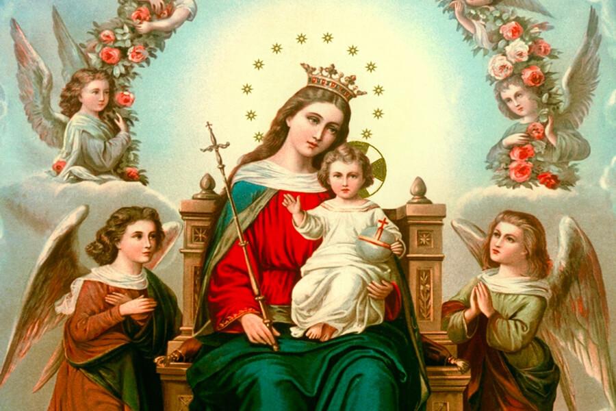 gương tuyệt vời của Mẹ Maria, Đức Mẹ, sống khiêm nhường