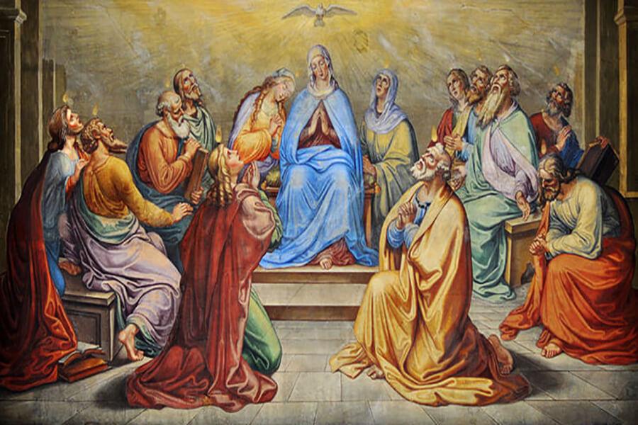 Nhờ Mẹ đến với Thánh Thần