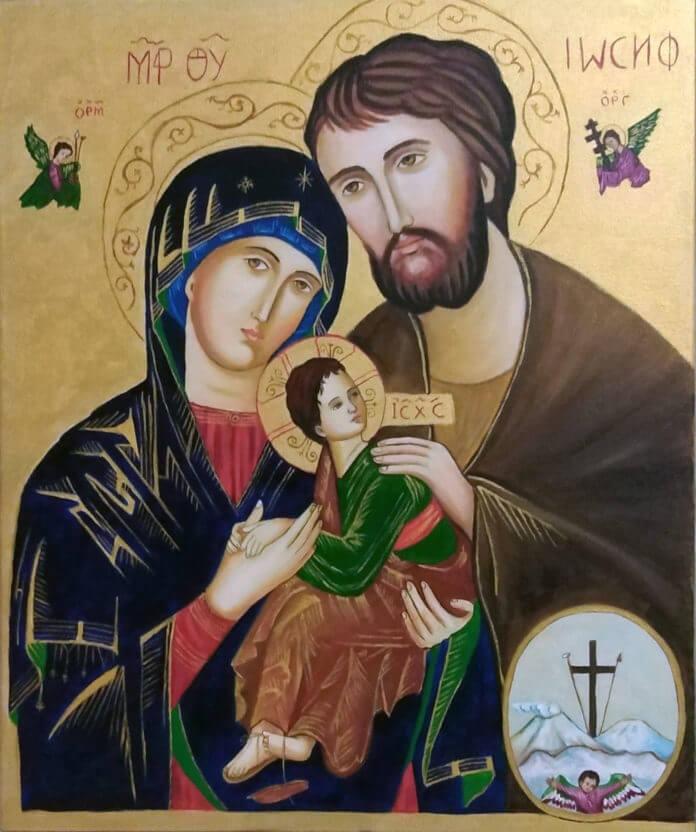 linh ảnh Mẹ Hằng Cứu Giúp - Thánh Giuse và Đức Mẹ - Mẹ Hằng Cứu giúp và thánh Giuse